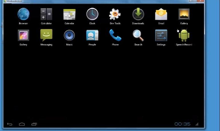 WindowsAndroid, ejecuta Android sin emulación en Windows
