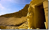Osirian statue at Mortuary Temple of Queen Hatshepsut, Deir el-Bahari, Egypt