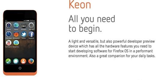 keon phone with firefox os - unpocogeek.com