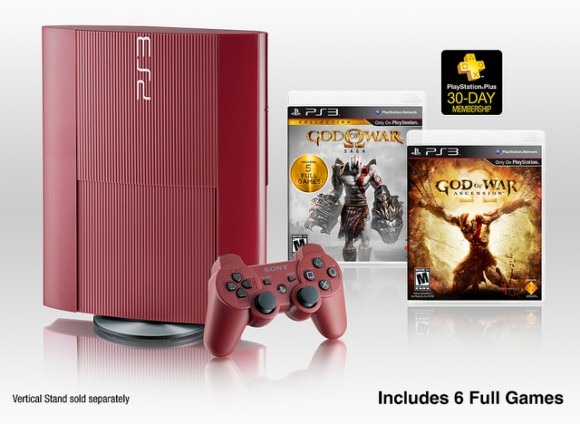 God of War garnet red ps3 edition - unpocogeek.com