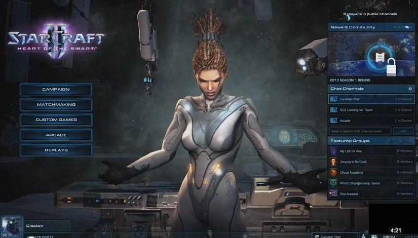 Un vistazo a las nuevas funciones sociales de StarCraft 2 Heart of the Swarm
