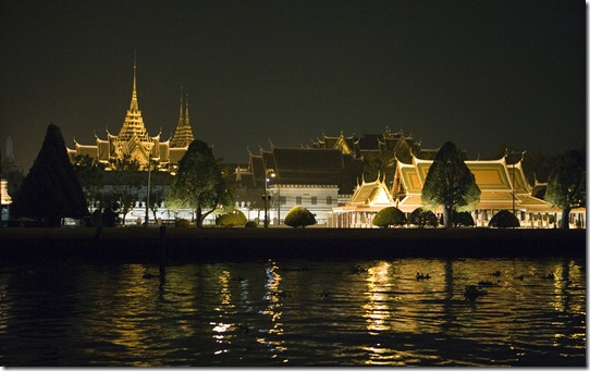 The Grand Palace at night, Bangkok, Thailand