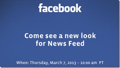 facebook new redesign press invite - unpocogeek.com