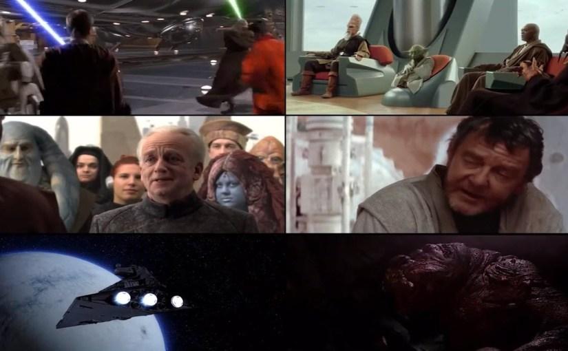 Las 6 películas de Star Wars reproduciéndose al mismo tiempo