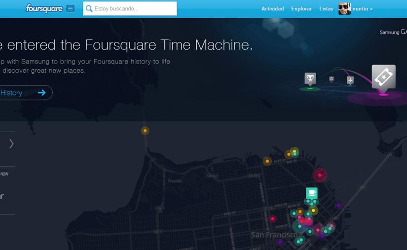 La máquina del tiempo de Foursquare