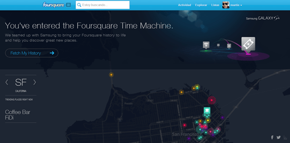 foursquare time machine - unpocogeek.com
