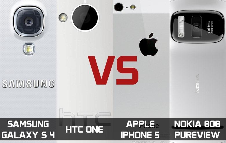 Comparativa de cámaras entre iPhone 5, Galaxy S4, HTC One y Nokia 808