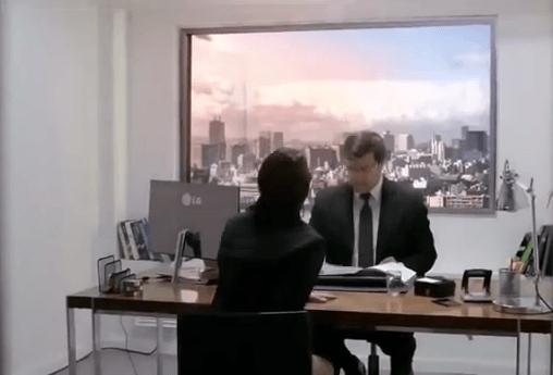 LG y una nueva genial manera de publicitar sus pantallas