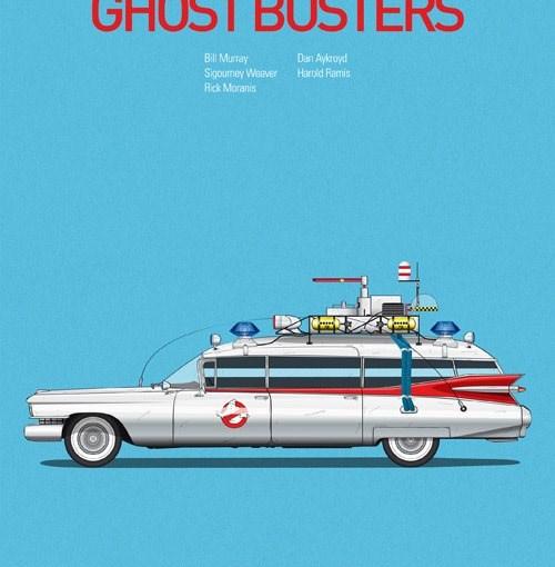Posters de películas y sus autos