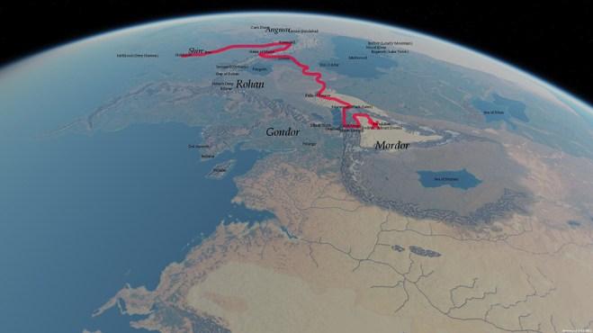 mapa de la tierra media  outerra -frodo journey- unpocogeek.com