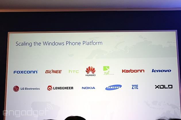 Microsoft anunció nuevos fabricantes para Windows Phone