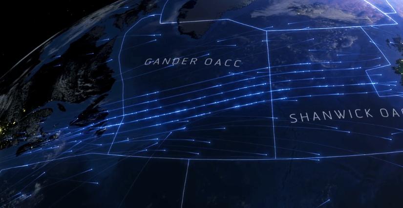 Visualización 3D de los espacios aéreos más utilizados