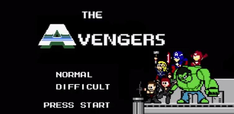 Avengers como video juego de 16bits