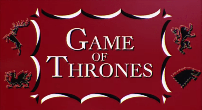 Game of Thrones 60s Saul Bass style title sequence - unpocogeek.com