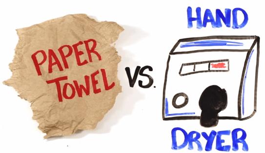 toallas de papel vs secador de manos - unpocogeek.com