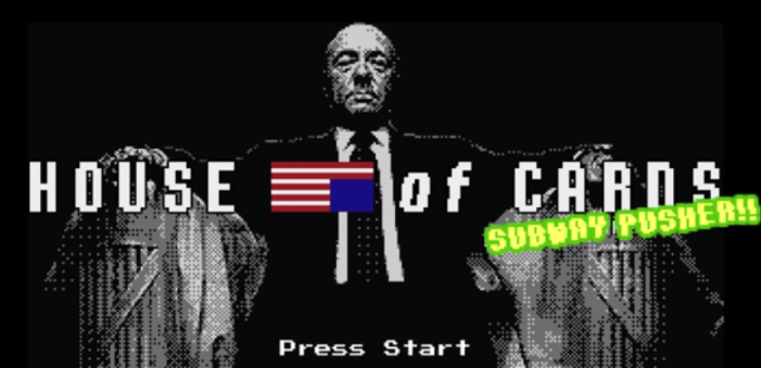 House of Cards  8 bit Game Parody_unpocogeek.com