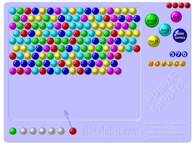 El juego de hoy… Bubble Shooter