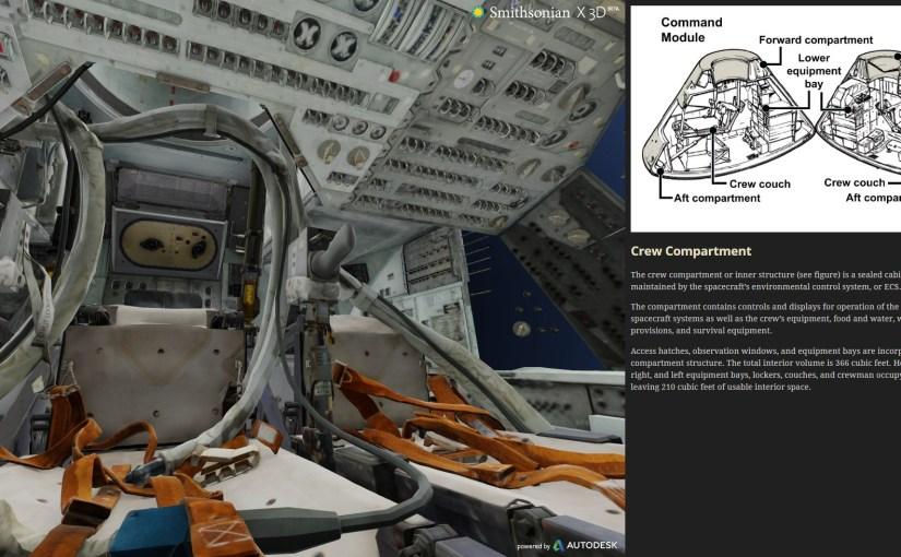 Un vistazo dentro del modulo de comando del Apollo 11