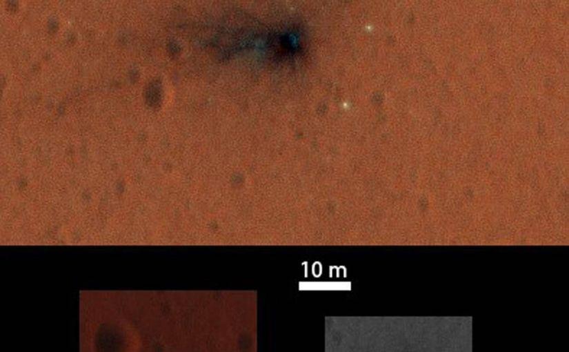 Más imágenes de la zona de aterrizaje de la nave Schiaparelli en Marte