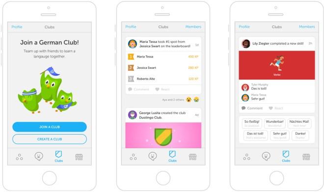 Duolingo introduce clubes de idiomas en su plataforma