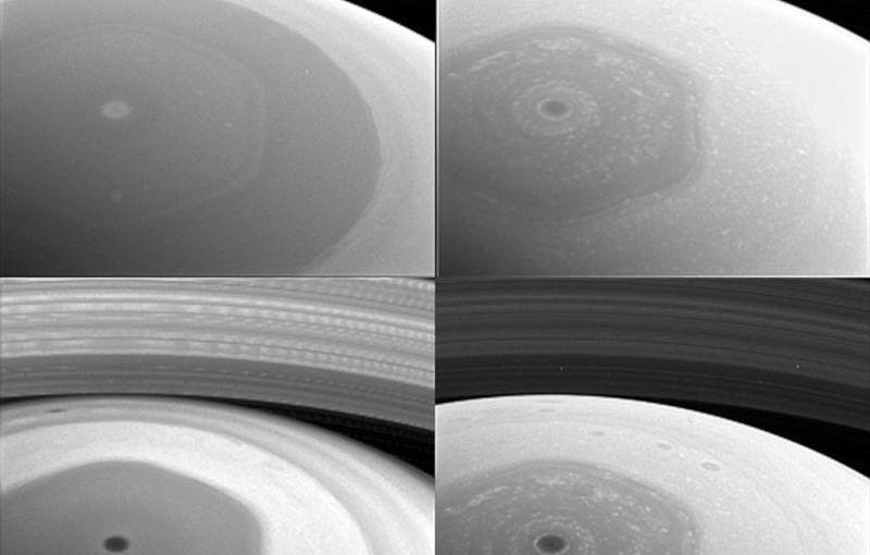 Saturno, polo norte fotografiado por Cassini