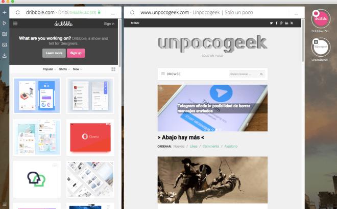 Opera Neon, navegador web que imita a nuestro escritorio
