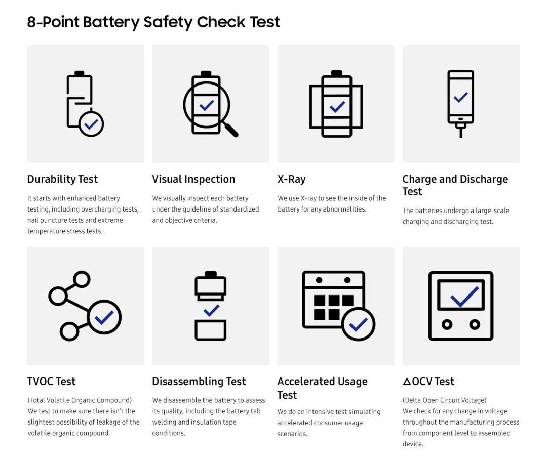 Samsung nuevos controles de calidad de baterias