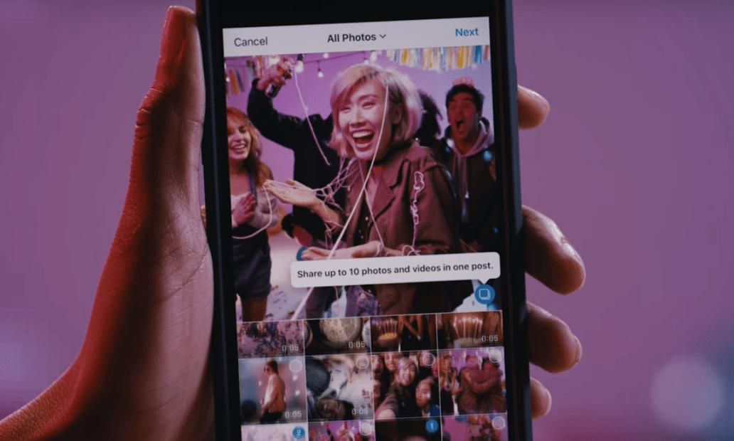 Instagram ya permite publicar álbumes de fotos