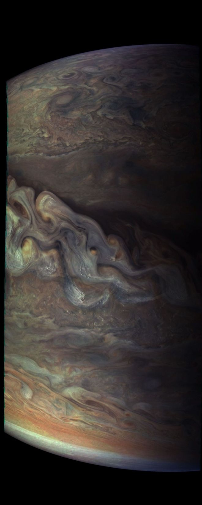 Las nubes y tormentas de júpiter