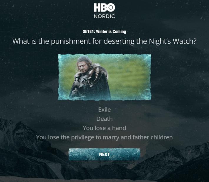 Game of Thrones, pon a prueba tus conocimientos sobre la serie con este cuestionario de HBO