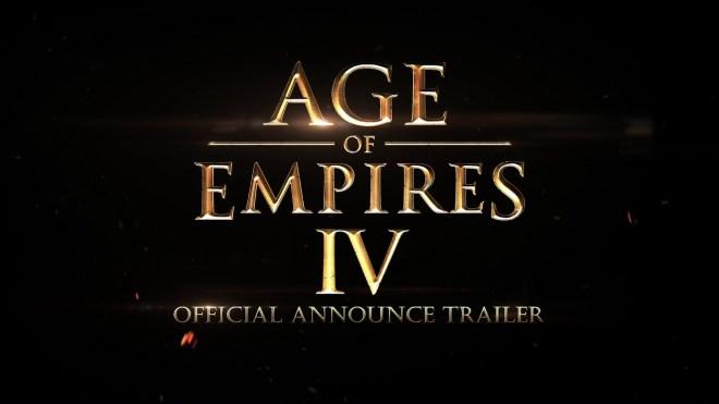 Age of empires 4 anuncio oficial