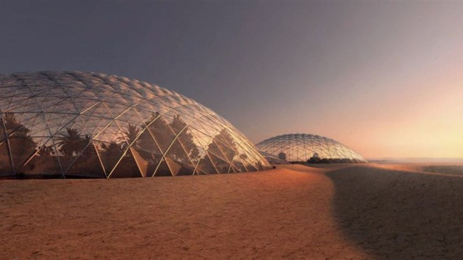 Prototipo de ciudad marciana en Dubai