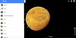 Nuevos planetas y lunas para visitar en Google Maps
