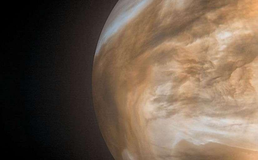Venus visto por Akatsuki. Usado con permiso de Damia Bouic. Crédito JAXA / ISAS / DARTS / Damia Bouic, CC BY-NC-SA 3.0