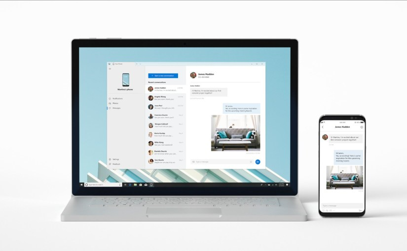 """""""Your Phone"""" de Microsoft nos permitirá administrar nuestro smartphone desde Windows 10"""