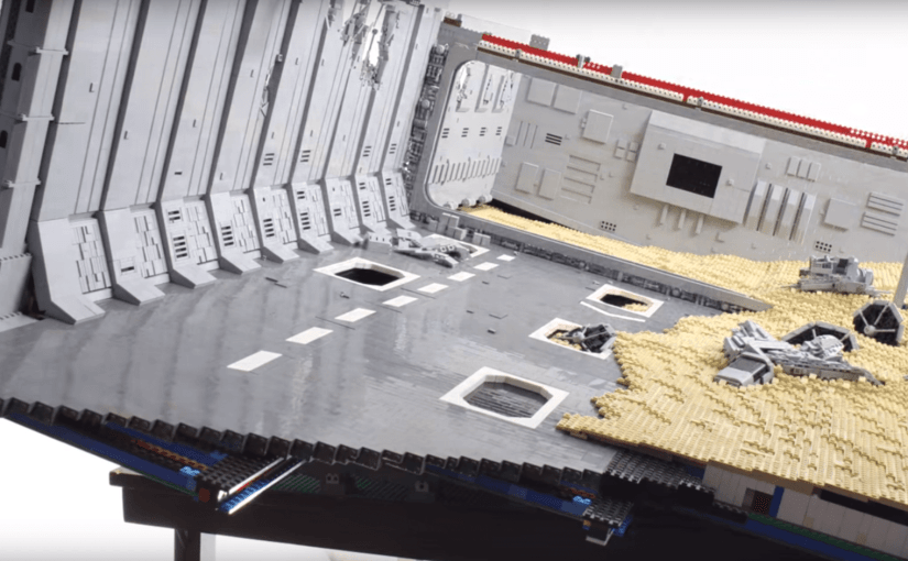 Construyendo el destructor estelar de Star Wars: The Force Awakens con LEGOS