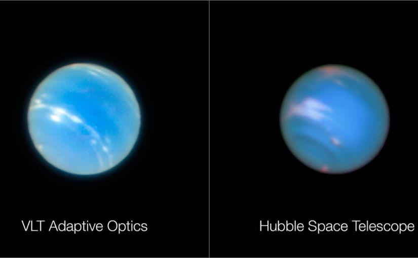 Un vistazo como nunca antes a Neptuno con un telescopio terrestre
