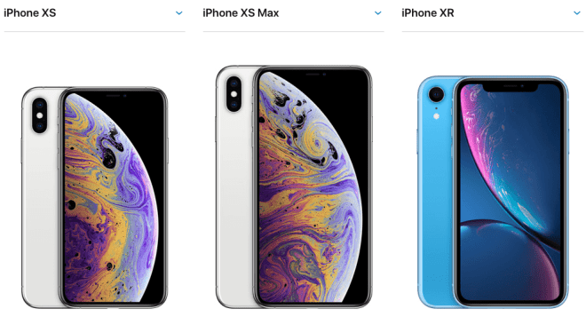 iPhone XS, iPhone XS Max, iPhone XR