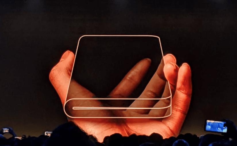 Primer vistazo al smartphone plegable de Samsung