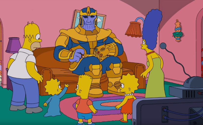 Thanos visita a los Simpsons