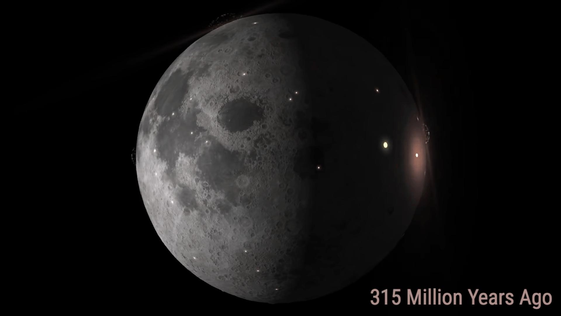 Mil millones de impactos en la luna en tan solo un minuto