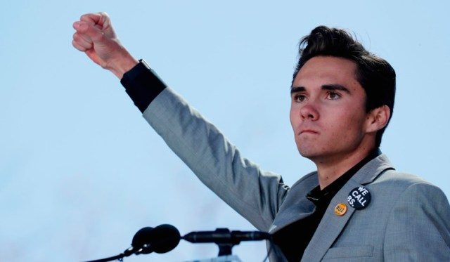 Image result for david hogg hand sign