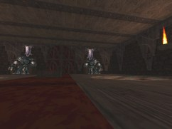Screenshot of a boss room in the Monster Hunt map, Inscrutable Castle.
