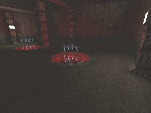 Screenshot of the Gasbag Chamber in the Monster Hunt map, Inscrutable Castle Redone.