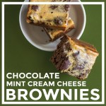 Oil-free Chocolate Mint Cream Cheese Brownies by Unrefined Vegan