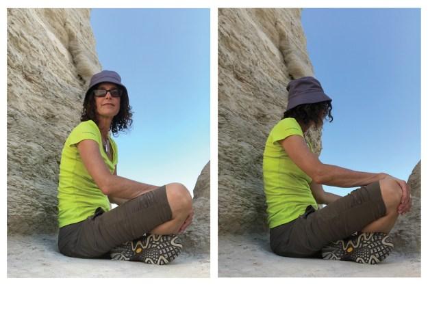 Annie at Monument Rocks Kansas
