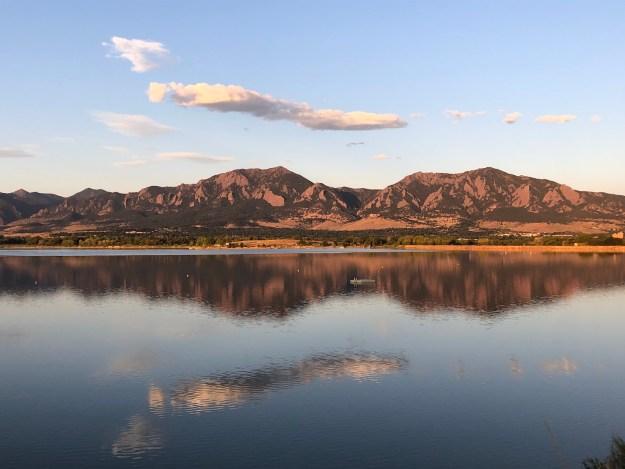 Boulder Lake and Flatirons Colorado