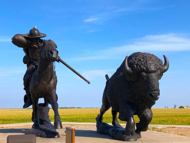 Buffalo Bill Sculpture Oakley KS