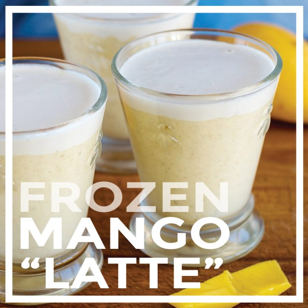 Vegan Frozen Mango Latte by Unrefined Vegan