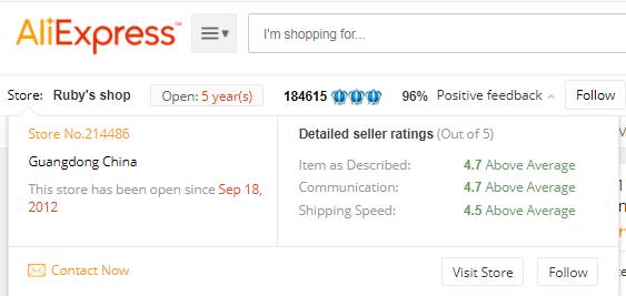 AliExpress Review Supplier